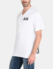 ARMANI EXCHANGE PLACED PRINT RELAXED V-NECK Logo T-shirt Man d