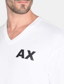 ARMANI EXCHANGE PLACED PRINT RELAXED V-NECK Logo T-shirt Man e