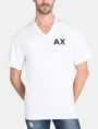 ARMANI EXCHANGE PLACED PRINT RELAXED V-NECK Logo T-shirt Man f