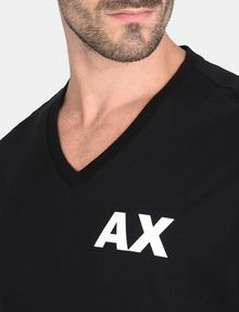 ARMANI EXCHANGE PLACED PRINT RELAXED V-NECK Logo T-shirt Man e