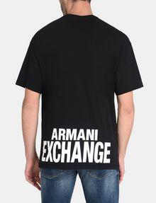 ARMANI EXCHANGE PLACED PRINT RELAXED V-NECK Logo T-shirt Man r