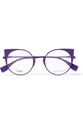FENDI Cat-eye metal optical glasses