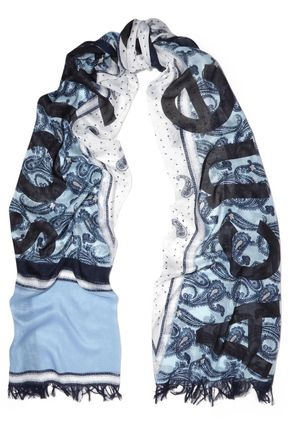 ACNE STUDIOS Printed modal and silk-blend gauze scarf