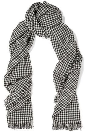 ISABEL MARANT ÉTOILE Checked wool scarf