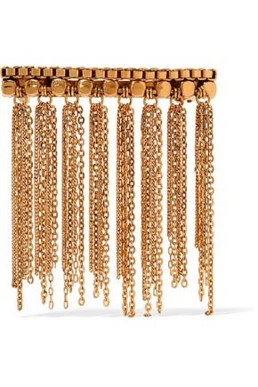 ERICKSON BEAMON Barrette fringed gold-plated hairclip