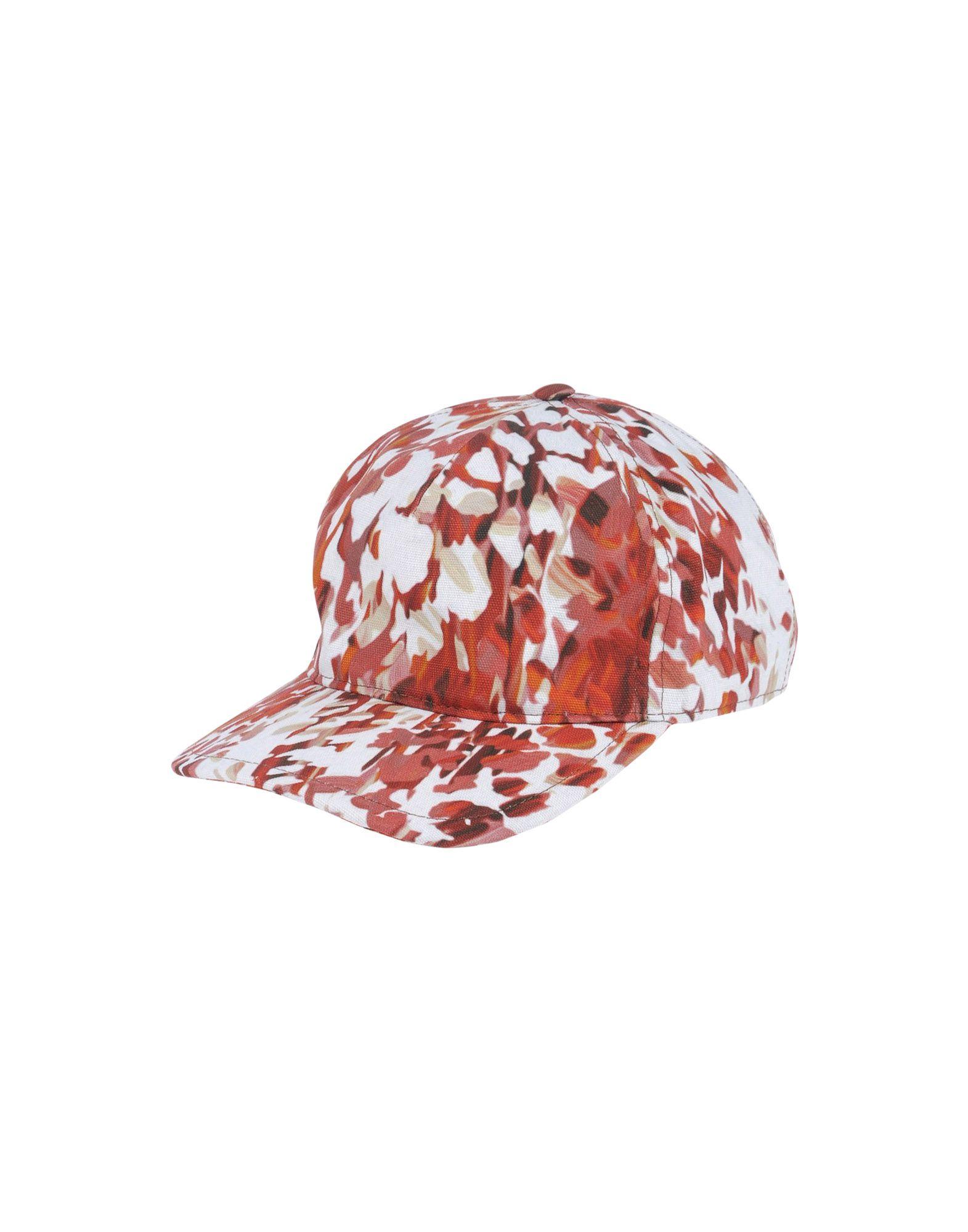 《送料無料》JUST CAVALLI メンズ 帽子 赤茶色 L コットン 100%