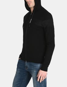 ARMANI EXCHANGE CONTRAST BAND SWEATER JACKET Layering Man d