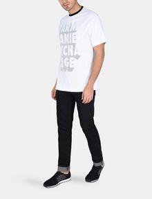 ARMANI EXCHANGE RELAXED MESH OVERLAY CREW Logo T-shirt Man a