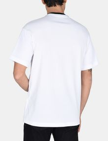 ARMANI EXCHANGE RELAXED MESH OVERLAY CREW Logo T-shirt Man r