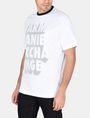ARMANI EXCHANGE RELAXED MESH OVERLAY CREW Logo T-shirt Man d