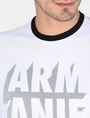 ARMANI EXCHANGE RELAXED MESH OVERLAY CREW Logo T-shirt Man e