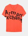 ARMANI EXCHANGE SPLINTERED LOGO V-NECK Logo T-shirt Man b