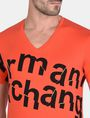 ARMANI EXCHANGE SPLINTERED LOGO V-NECK Logo T-shirt Man e