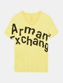 ARMANI EXCHANGE SPLINTERED LOGO V-NECK Logo T-shirt Man b