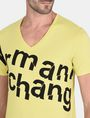 ARMANI EXCHANGE SPLINTERED LOGO V-NECK Logo T-shirt Man e