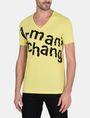 ARMANI EXCHANGE SPLINTERED LOGO V-NECK Logo T-shirt Man f