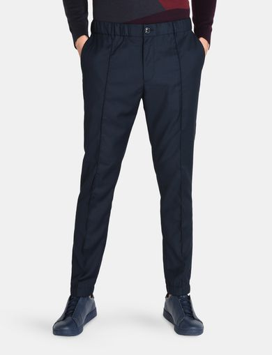 SEAMED CINCH-WAIST PANT