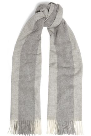 ACNE STUDIOS Canada Bengal fringed striped wool scarf