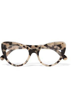 STELLA McCARTNEY Chain-trimmed cat-eye  acetate optical glasses