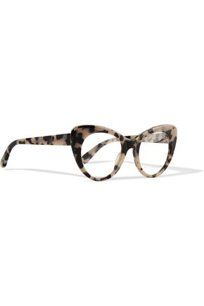 abcae368efe ... STELLA McCARTNEY Chain-embellished cat-eye tortoiseshell acetate  optical glasses ...