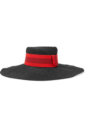 TOMAS MAIER Mustique color-block straw sunhat