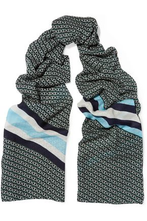 TORY BURCH Printed wool scarf