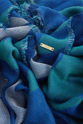 MAJE Elsa cotton-blend jacquard scarf
