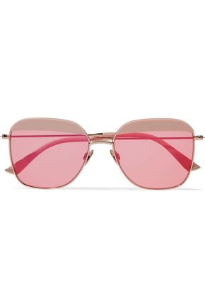 SUNDAY SOMEWHERE Vito square-frame gold-tone and acetate sunglasses
