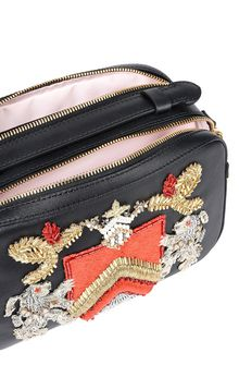 ALBERTA FERRETTI Bag with maxi embroidery Cross body bag Woman a
