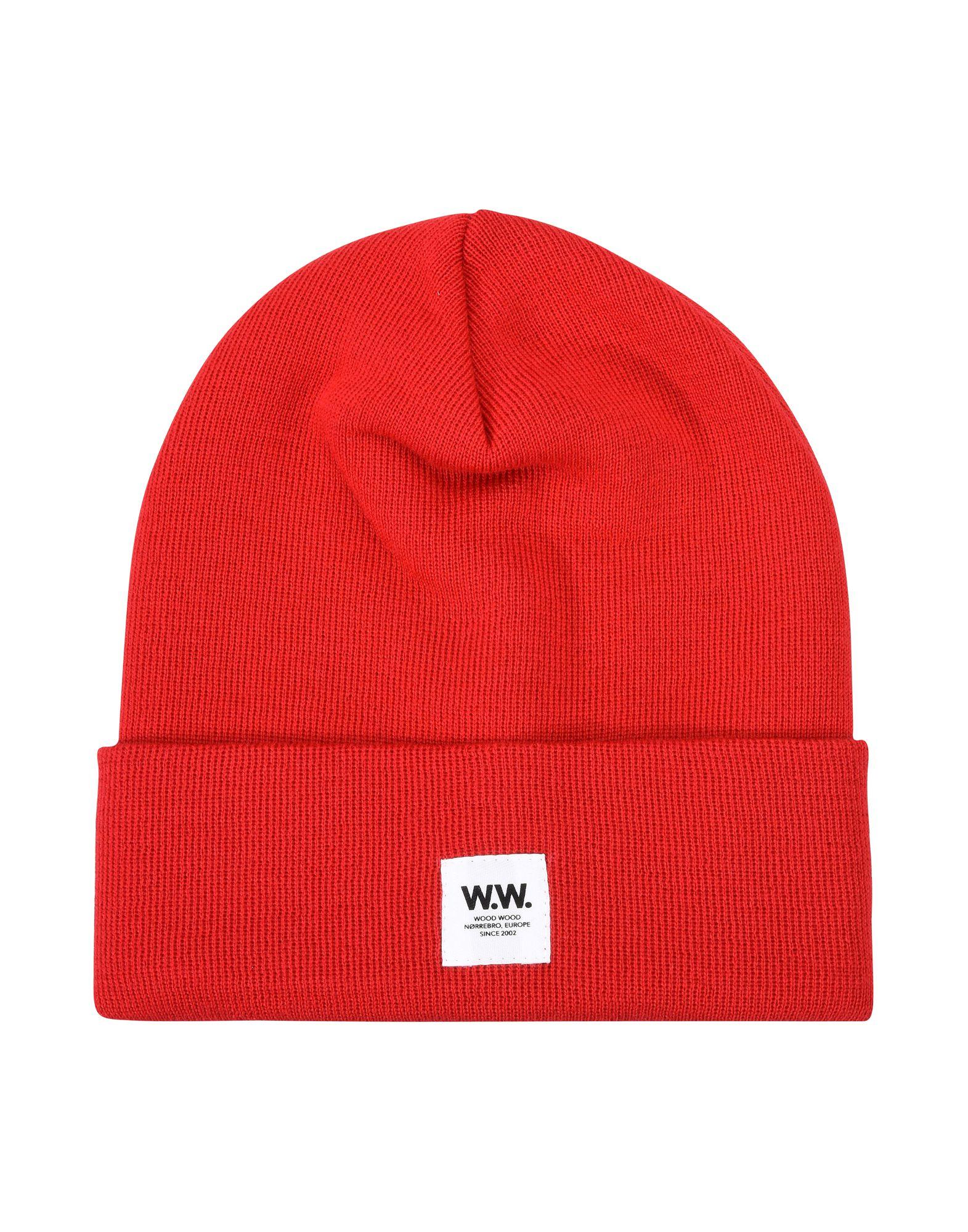 《送料無料》WOOD WOOD メンズ 帽子 レッド ウール 100%