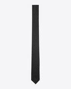 SAINT LAURENT Skinny Ties U Narrow tie with white polka dots on black silk. f
