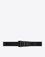 SAINT LAURENT Classic Belts U HUBLOT military-style buckle belt in brown leather f
