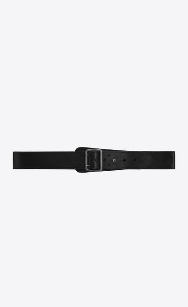 SAINT LAURENT Classic Belts U HUBLOT military-style buckle belt in brown leather v4