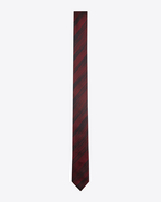SAINT LAURENT Skinny Ties U Narrow tie with IKAT brush motifs in black and red silk f