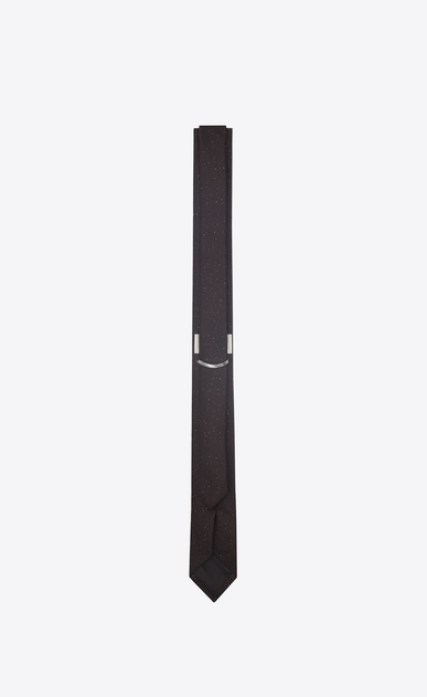 SAINT LAURENT Skinny Ties U Narrow tie in red and black spangled silk jacquard b_V4