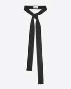 SAINT LAURENT Lavallière U Ascot scarf in black silk shantung f