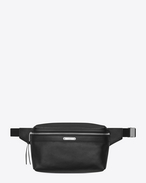 SAINT LAURENT Belt Bags U CITY belt bag in black leather f