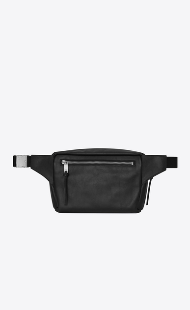 SAINT LAURENT Belt Bags Man CITY belt bag in black leather b_V4