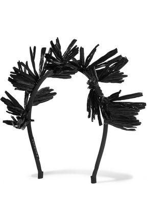YUNOTME Ziggy fringed raffia headband