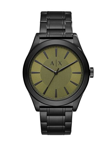 BRUSHED GREEN DIAL WATCH
