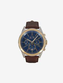 ARMANI EXCHANGE CHRONOGRAPH LEATHER STRAP WATCH Fashion Watch [*** pickupInStoreShippingNotGuaranteed_info ***] f