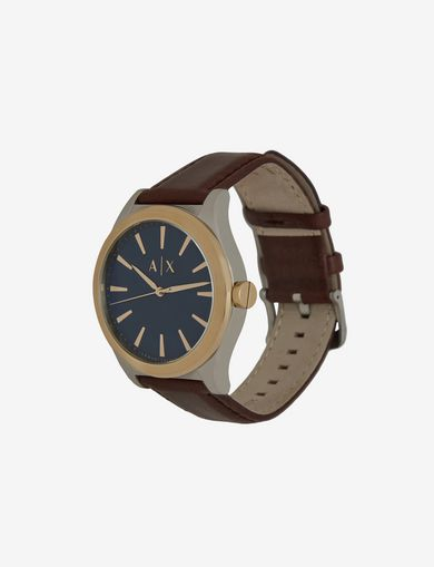BRUSHED BLUE DIAL DRESS WATCH