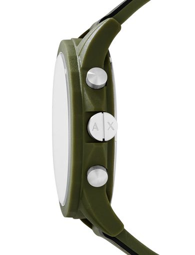 ARMY GREEN SILICONE BAND WATCH