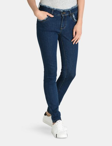 SHREDDED WAIST SUPER-SKINNY JEAN