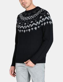 ARMANI EXCHANGE NORDIC INTARSIA CREWNECK SWEATER Pullover Man f