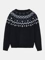 ARMANI EXCHANGE NORDIC INTARSIA CREWNECK SWEATER Pullover Man b
