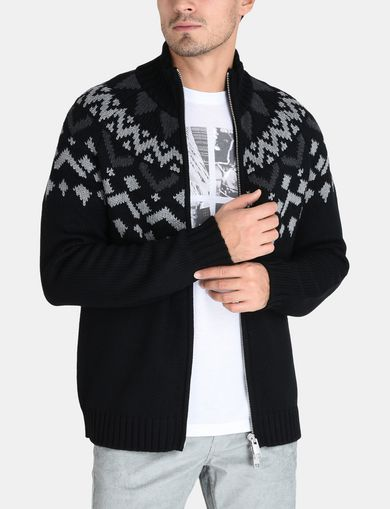 NORDIC INTARSIA FULL-ZIP SWEATER