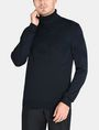 ARMANI EXCHANGE GEOMETRIC INTARSIA TURTLENECK SWEATER Pullover Man f