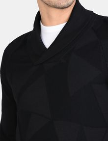 ARMANI EXCHANGE GEOMETRIC INTARSIA SHAWL-COLLAR SWEATER Pullover Man e