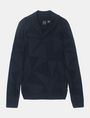 ARMANI EXCHANGE GEOMETRIC INTARSIA SHAWL-COLLAR SWEATER Pullover Man b